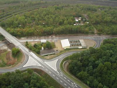 Luftbild der Schießanlage des ESV Weil am Rhein